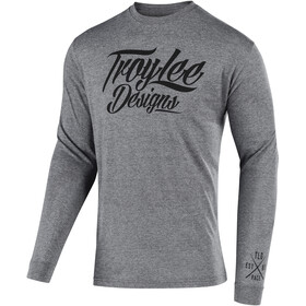 Troy Lee Designs Flowline LS Tech Tee Men tattoo racer/graphite heather